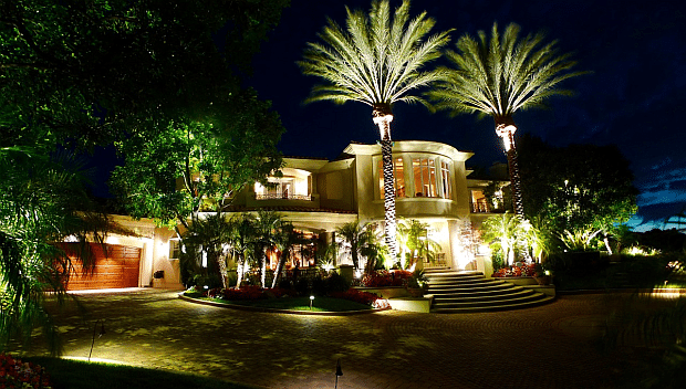 Residential landscape lighting adds security and style for Residential outdoor lighting