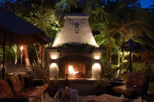 LED outdoor landscape lighting in Miami